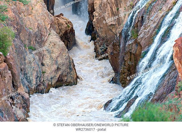Namibia, Kunene, Kaokoland, Epupafalls of Kunene, river on the border to Angola in Kaokoland