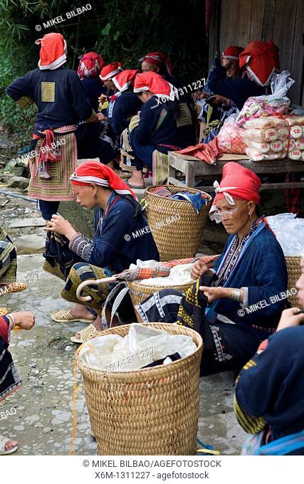 Red Dzao ethnic group in Ta Phin village  Sapa, Lao Cai province, Vietnam