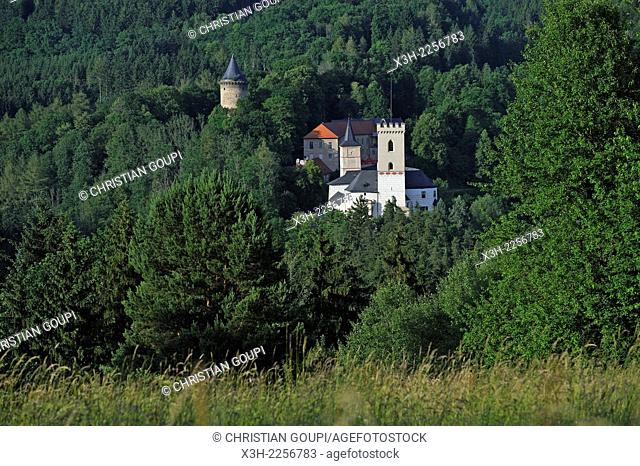 Rozmberk Castle, Rozmberk nad Vltavou in South Bohemia, Czech Republic, Europe