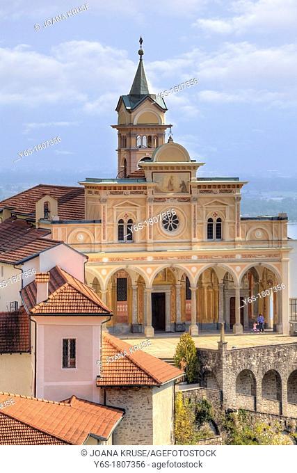Sanctuary of Madonna del Sasso in Locarno, Ticino, Switzerland
