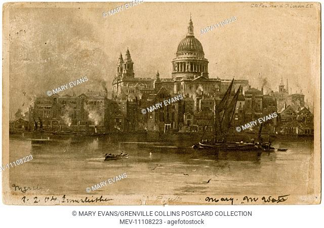 St. Paul's Cathedral, London - view from the River Thames