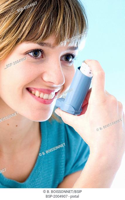 ASTHMA TREATMENT, WOMAN Model