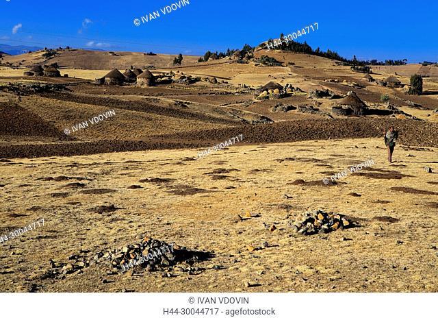 View of highlands near Dilbe, Amhara region, Ethiopia