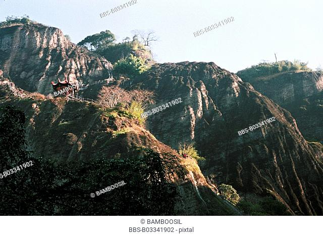 Banshan Pavilion on Tianyou Peak of Mount Wuyi, Wuyishan City, Fujian Province, People's Republic of China