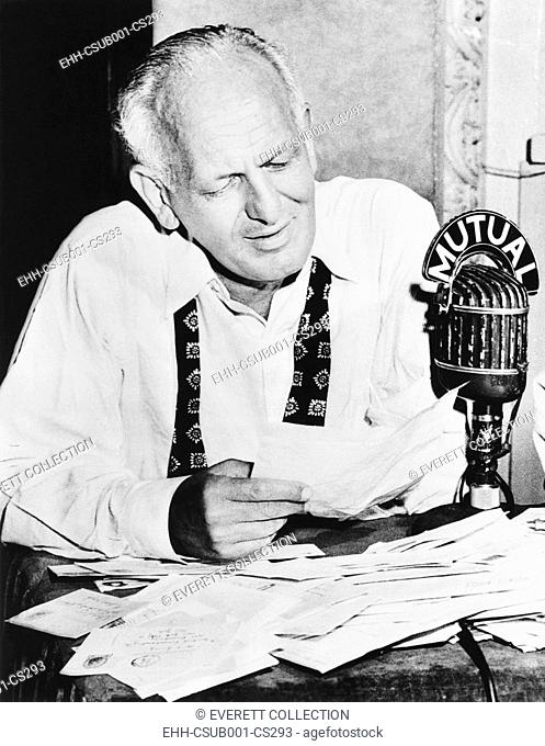 Gabriel Heatter, newspaperman who became a radio reporter and commentator. His broadcasting career started in 1932 at NYC's WOR which became the flagship...