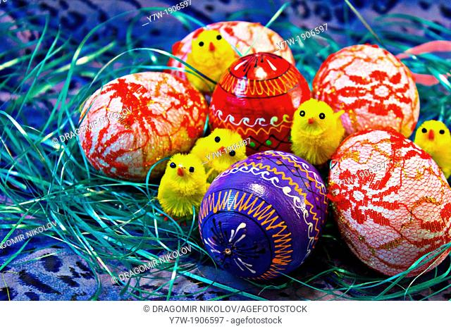Easter Eggs with Chicken