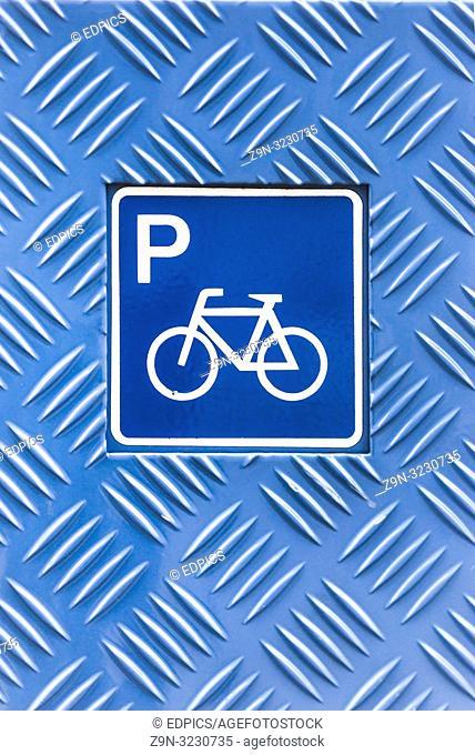 pictogram, biciycle parking, stuttgart, baden-wuerttemberg, germany