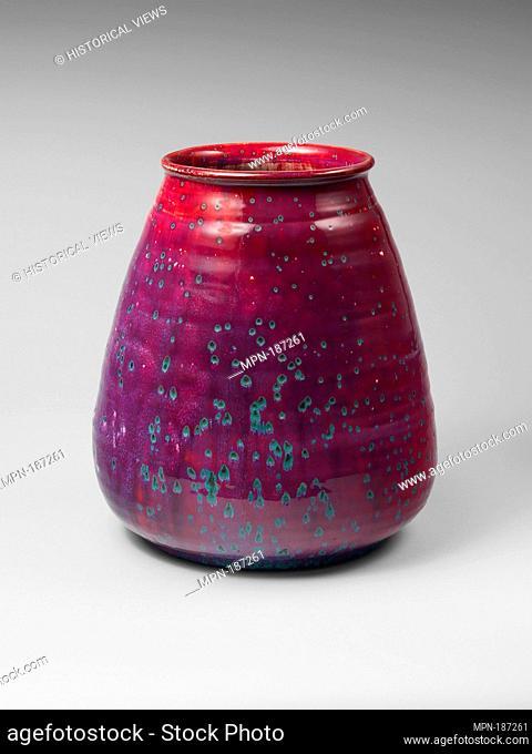Vase. Manufacturer: Ruskin Pottery (British, 1898-1933); Date: 1927; Medium: Stoneware; Dimensions: H. 14-1/2 x Dia.12 in. (36.8 x 30