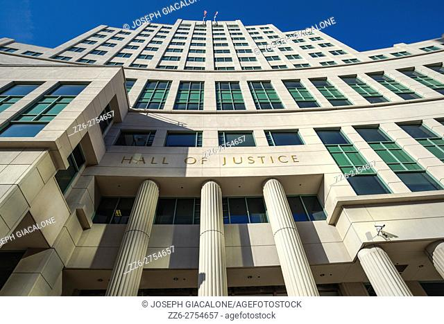 Hall of Justice building, Downtown San Diego, California, USA