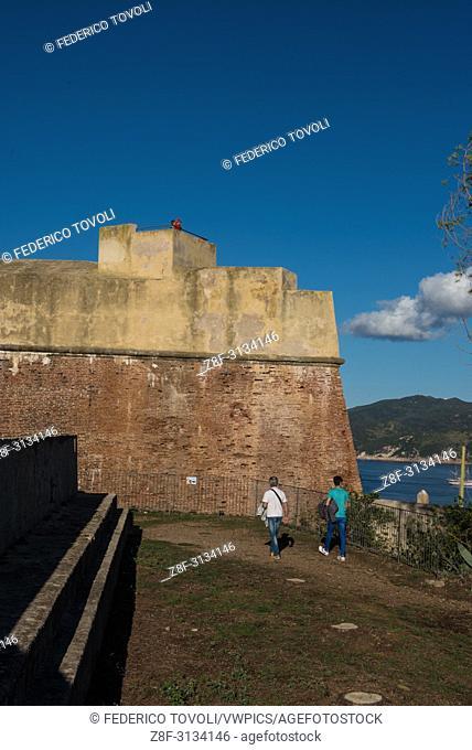 Porttoferraio. into the Falcone fort area