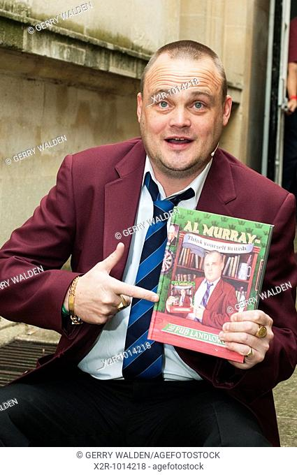 Al Murray, the 'Pub Landlord' comedian, at the Cheltenham Literary Festival
