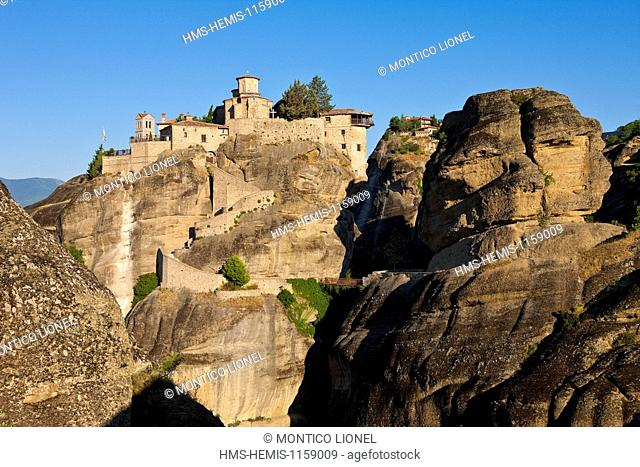 Greece, Thessaly, Meteora monasteries complex, listed as World Heritage by UNESCO, Monastery Varlaam
