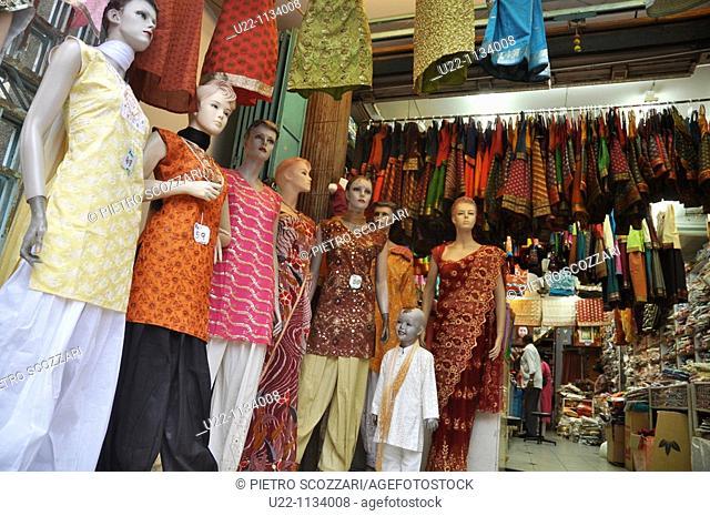 George Town, Penang (Malaysia): a sari shop in Little India