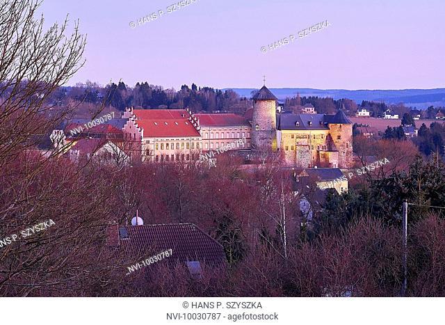 Voigtsberg Castle in Oelsnitz, Vogtland, Saxony, Germany
