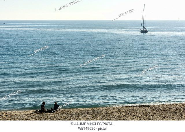 A placid day of Autumn in Barcelona Coast