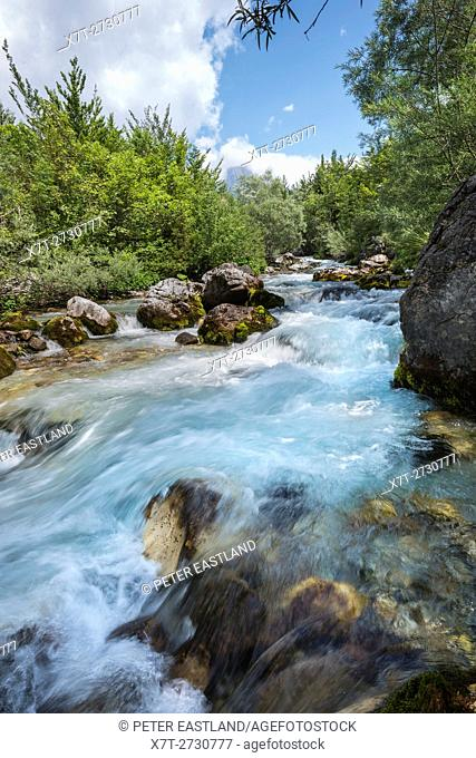 The Thethit river at the village of Theth, Northern Albania