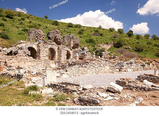Baths of Various in Upper Agora at the Roman ruins of Ephesus, Efes, Selcuk, Kusadasi, Turkey, Europe