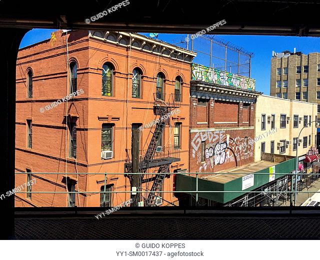 New York City, USA. View from Broadway Junction Subway Station