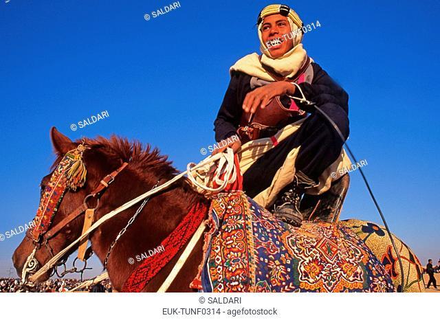 Rider on Arab stallion,International Festival of the Sahara, Douz,Tunisia