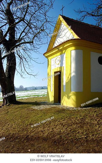 A Chapel over Dobrany, the Plzen Region, the Southwestern Bohemia, Czech Republic