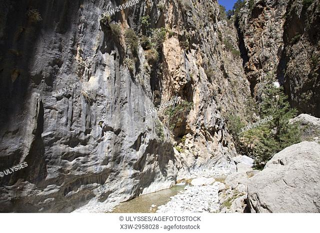 Samarias gorge, Crete island, Greece, Europe