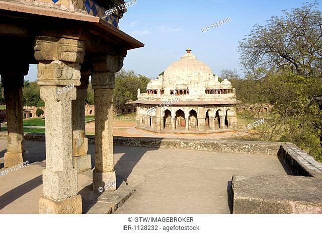 Octagonal tomb of Isa Khan, Unesco World Heritage Site, Delhi, India