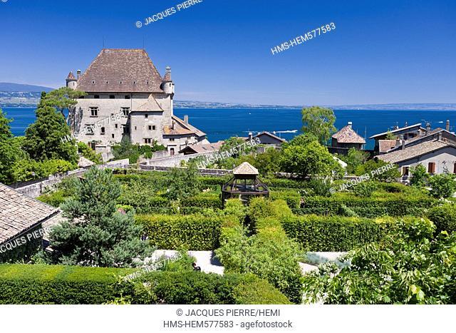 France, Haute Savoie, Yvoire, Leman Lake, labelled Les Plus Beaux Villages de France the Most Beautiful Villages of France