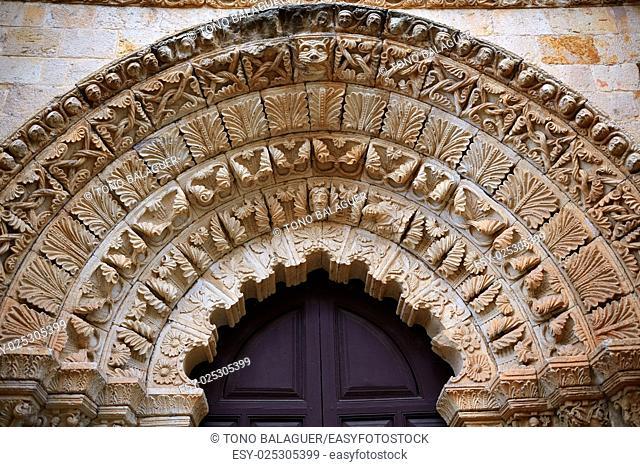 Zamora Santa Maria Magdalena church facade in Spain