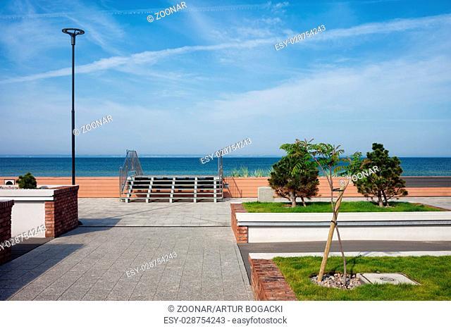 Baltic Sea Promenade in Town of Hel