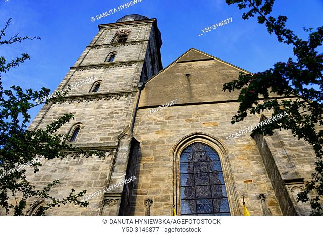 St. Martin church, St.-Martin-Strasse, historic part of Forchheim, Forchheim, Franconian Switzerland, Upper Franconia, Franconia, Bavaria, Germany, Europe