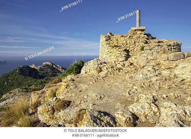 torre de Sa Talaia d'Alcúdia, área natural de la Victòria, Alcúdia, Mallorca, balearic islands, Spain