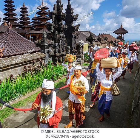 People in Besakih Temple. Bali. Indonesia, Asia