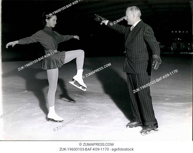 Feb. 24, 1975 - Jacques Gerschwiler Concentrates on perfecting Yvonne Sugdens Style at streatham. (Credit Image: © Keystone Pictures USA/ZUMAPRESS
