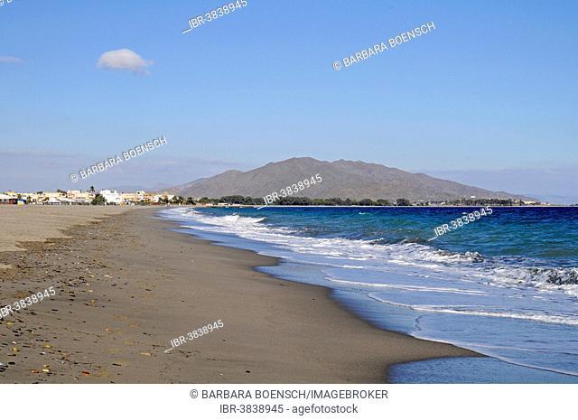 Playa El Playazo, Playas de Vera, beach, Mojacar, Province of Almería, Andalusia, Spain