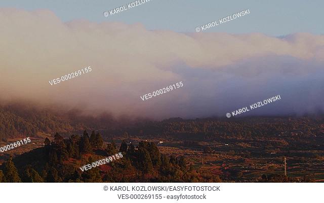 Waterfall of Clouds Timelapse taken on La Palma, Canary Islands, Spain