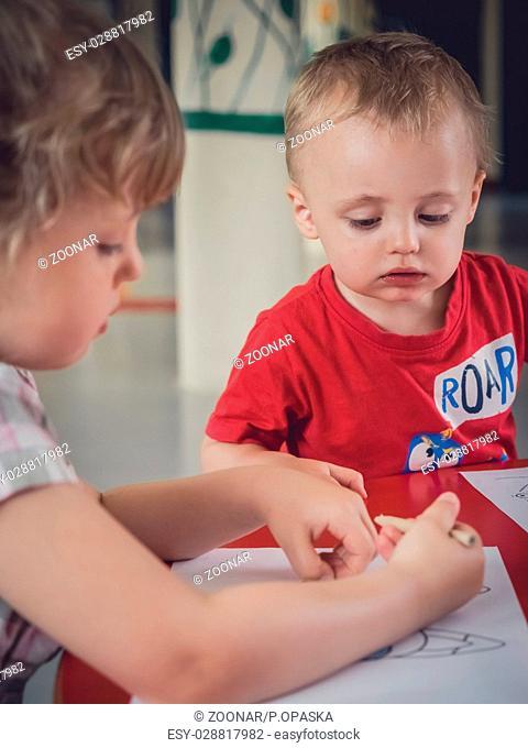 Little kids colouring