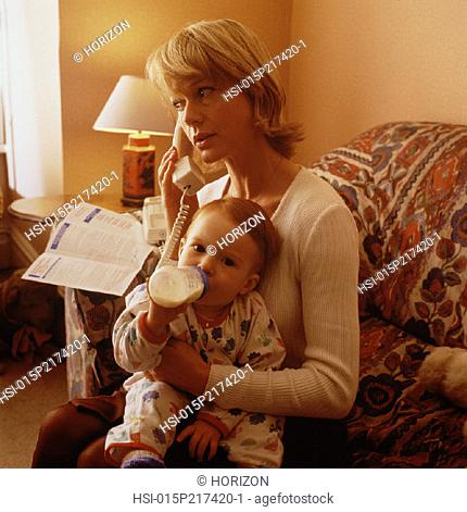 Family, Mother & baby, Indoors