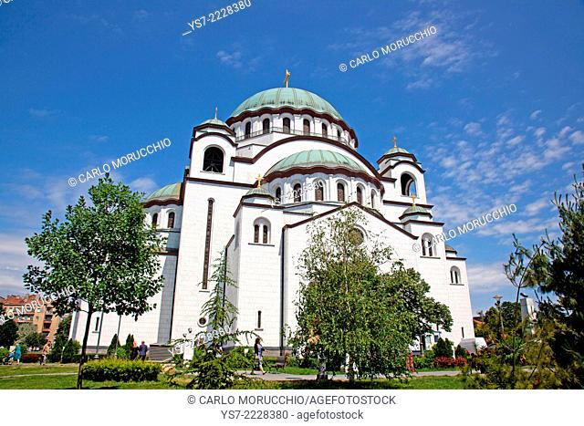 The Church of Saint Sava, the largest Orthodox church in the world, Belgrade, Serbia