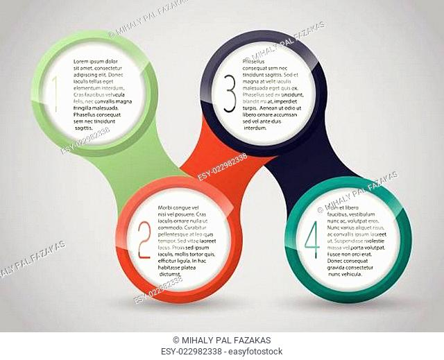 Iinfographic design with connected circles