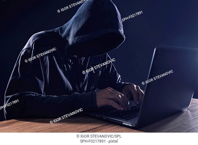 Computer hacker, conceptual image
