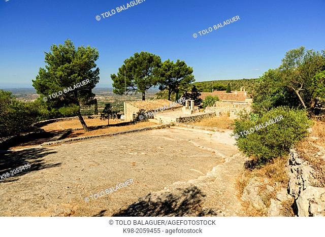 Sanctuary of Sant Honorat 1397, Mountain of Cura, Balearic Algaida.Mallorca.Islas. Spain