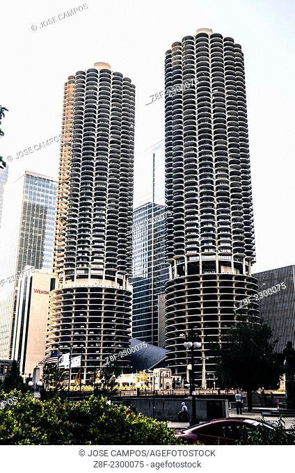 Chicago Downtown. The Marina Towers