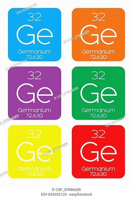 Informative Illustration of the Periodic Element - Germanium