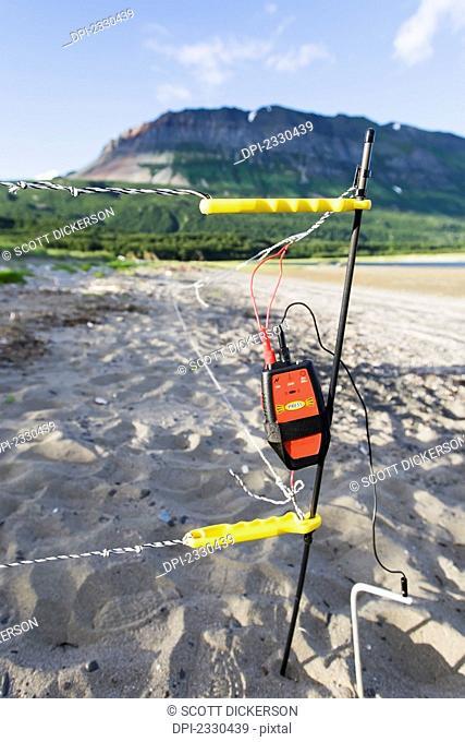 A Device In The Sand On The Shore Of Hallo Bay, Katmai Naional Park, Alaska Peninsula; Southwest Alaska, United States Of America
