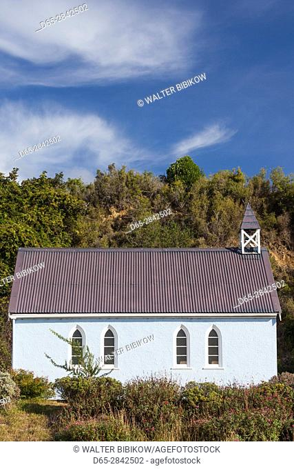 New Zealand, South Island, Otago, Moeraki, village church