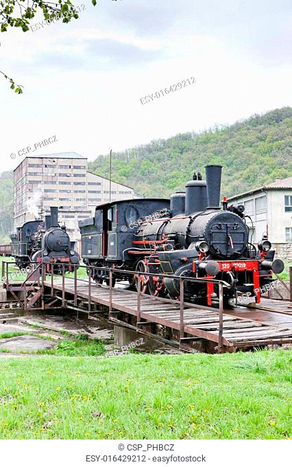 steam locomotives, Resavica, Serbia