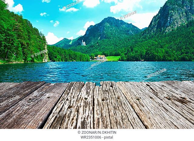 Alpsee lake at Hohenschwangau near Munich in Bavaria