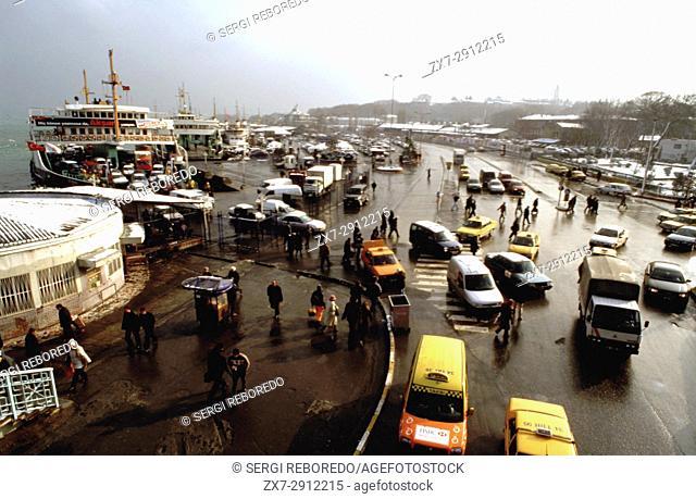 Pier in the Sultanahmet area, Resadiye street, Istanbul, Turkey