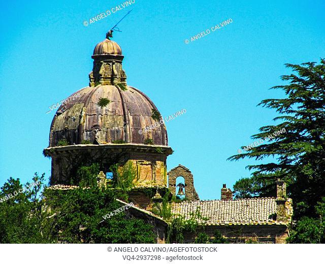 Bolsena Lake, Bisentina Island, Isola Bisentina, Saints Giacomo and Cristoforo del Vignola Church, Lazio, Italy