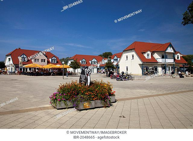 Haffplatz square, Baltic resort Rerik, Mecklenburg-Western Pomerania, Germany, Europe, PublicGround